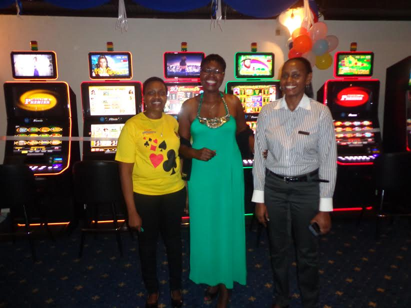 From the left, Leah Nyoro, (Casino Slots-in-charge); Judy Kiragu ( Casino Director) and Angeline Muthoni ( Assistant Casino Manager).